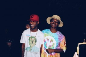 Raury with Kid Cudi, one of his biggest influences.