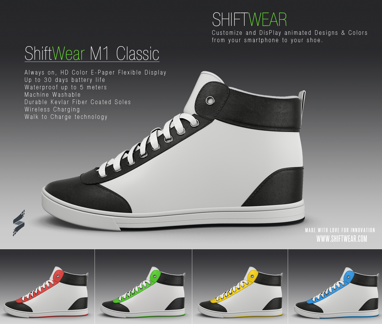 Shiftwear Lets You Change The Display on Your Sneakers with Your phone